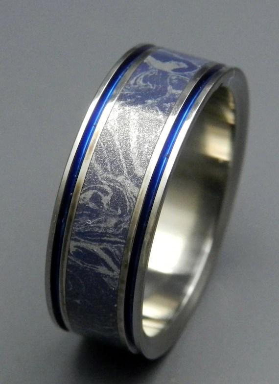 Titanium Wedding Band Mokume Gane Mens Ring Womens Ring