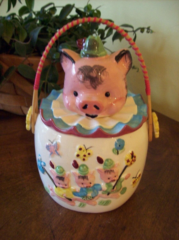 Sale Vintage Lipper And Mann Three Little Pigs Cookie Jar Was