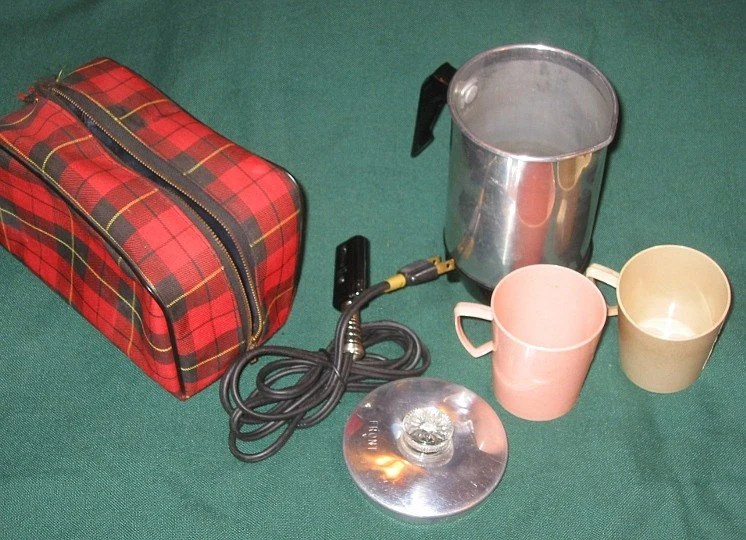 Travel Coffee Pot Small Electric with Case Portable by