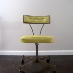 Mid Century Modern Desk Chair Accent Lounge Chairs On Hold 1950s Rolling