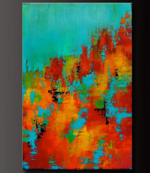 Carousel 8 24 X 36 Abstract Acrylic Painting Highly