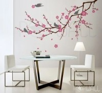 Tree birds flower Cherry Blossom Tree Branch Wall decal