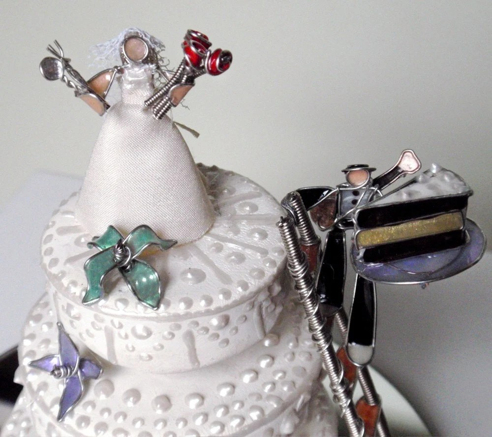 The Mischievous Pair- Wedding Cake Topper-Dessert Table Centerpiece