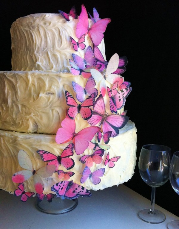 Wedding Cake Topper Original Edible Butterflies Assorted