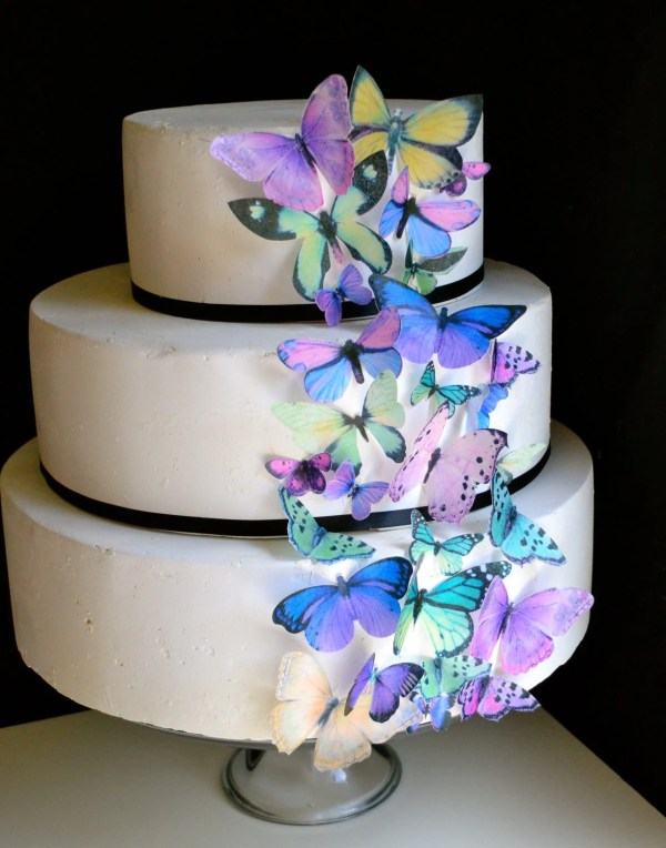 Wedding Cake Topper Original Edible Butterflies