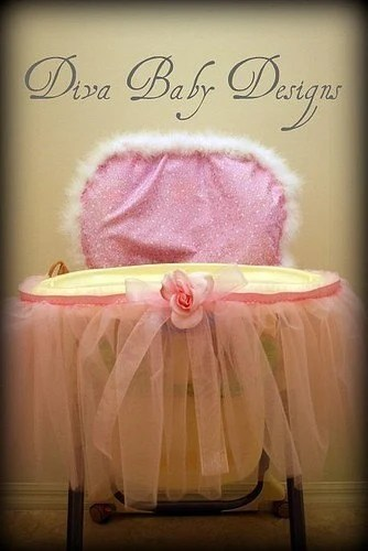 Items similar to Princess Throne High Chair Cover and