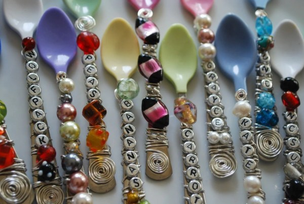 Personalized Baby Spoons Single Oliviagraycedesign