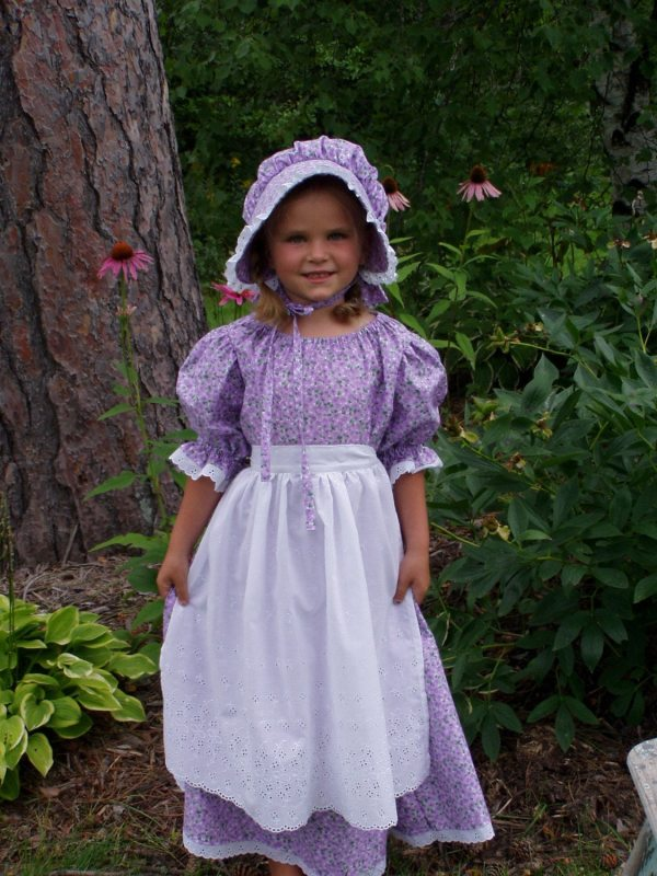 Girls Pioneer Prairie Colonial Dress Costume Choose Size