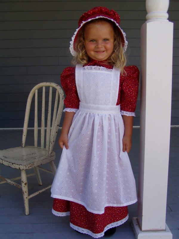 Girls Pioneer Prairie Dress Costume Choose Size
