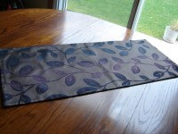 Purple Velvet Table Runner