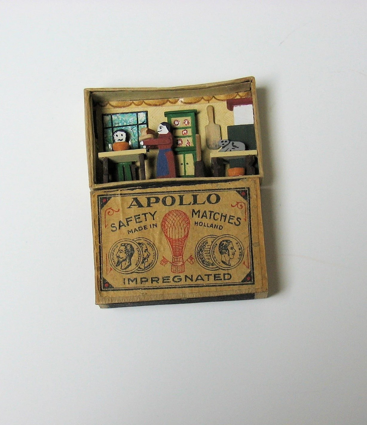 Kitchen in a Matchbox 1144th scale by ReneeBowen on Etsy