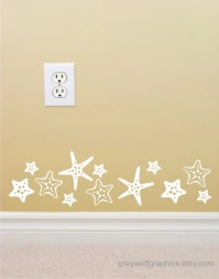 Items similar to Starfish Wall Decal set of 16 on Etsy