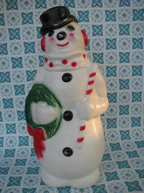 Fun Vintage Empire Plastic Blow Mold Christmas Snowman