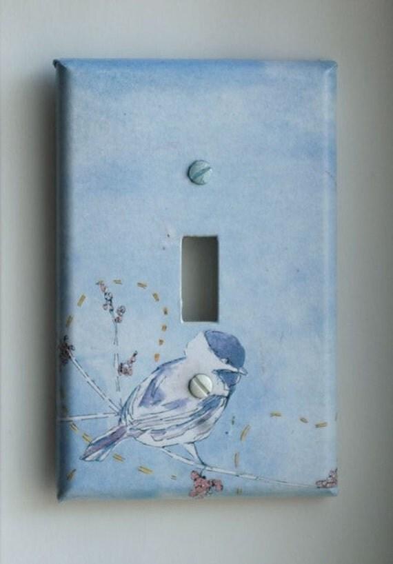 Chickadee Bird Art Decorative Light Switch Plate Cover Made