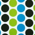 Polka dot curtain panels black and white chartruese turquoise curtains