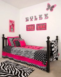 Custom made twin hot pink zebra bedding sets by