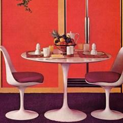Tulip Table And Chairs Bean Bag Chair Filler Canada Eero Saarinen Vintage Image