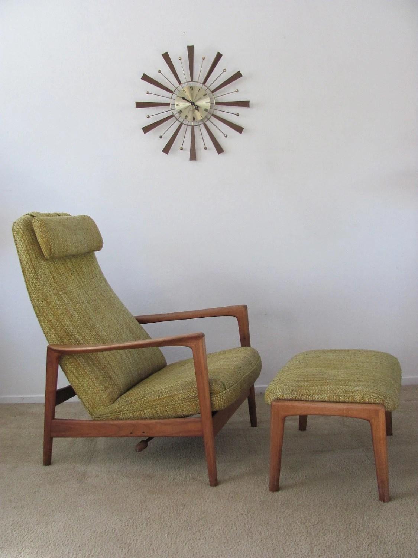 Vintage Mid Century Danish Modern  Dux  Reclining High Back