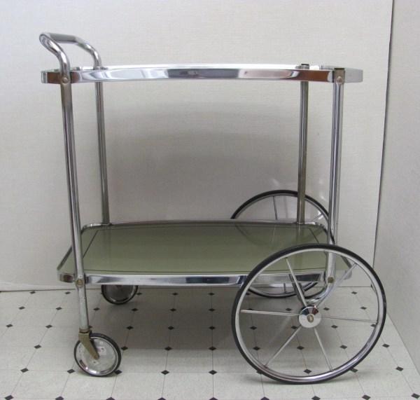 Vintage Tea Carts with Wheels