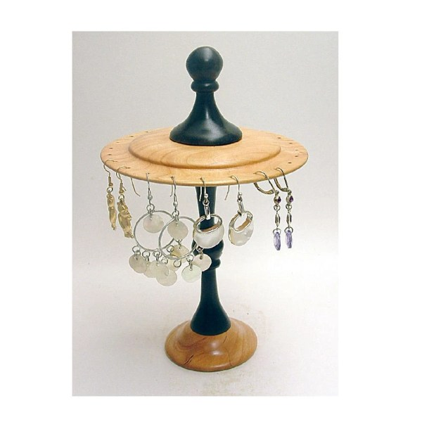 Black And Wild Cherry Rotating Earring Display