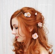 rose hair clips blush pink
