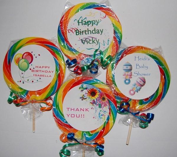 5 Personalized Swirl Lollipops 10