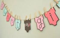 Baby girl onesie banner baby shower onesie theme baby girl
