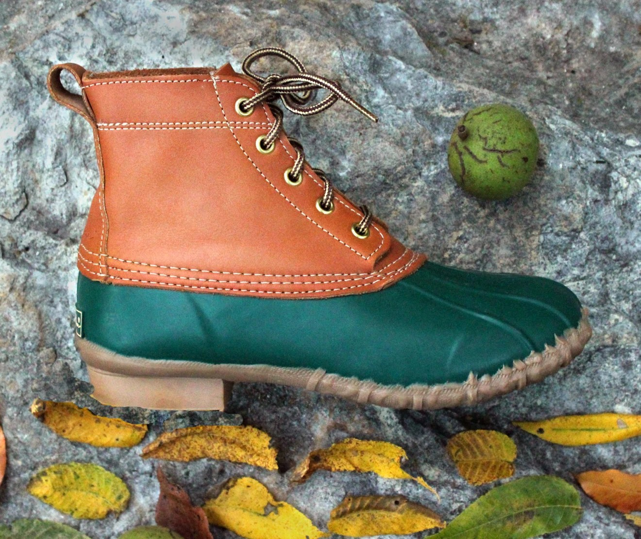 Vintage Eddie Bauer Duck Boots All Weather Rubber  Leather in