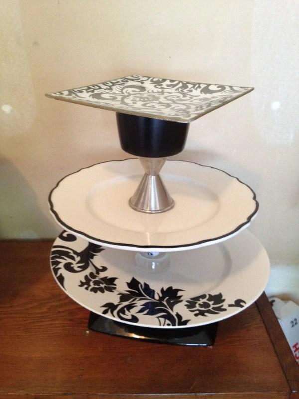 Black And White 3 Tiered Cake Stand