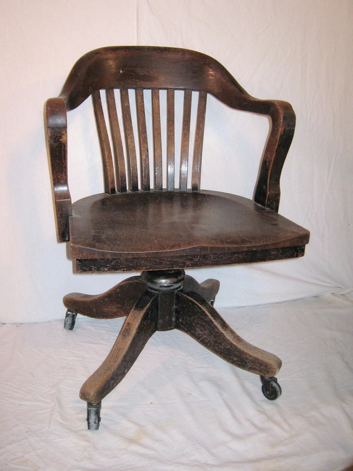 Bankers Chairs Bankers Chair Vintage Heavy Wood From 1930 Or 40s Office Desk