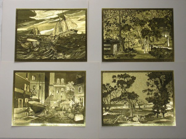 Vintage Gold Etch Prints Lionel Barrymore Of Art
