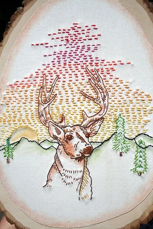 Woodland Creatures Iron on Hand Embroidery Pattern original