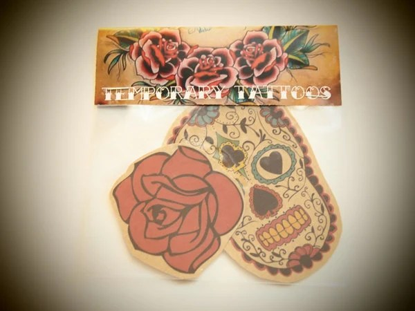 day of dead temporary tattoo