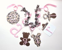 Cheetah baby shower decorations leopard and baby pink it's