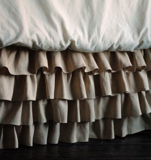 Ruffled Linen Bed Skirt Twin And Full