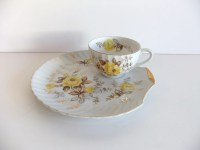 Vintage Floral Snack Plate // Luncheon Plate set