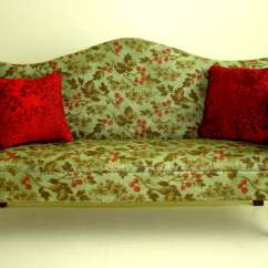 Green Floral Sofa Roma Table Miniature Dark Chippendale By