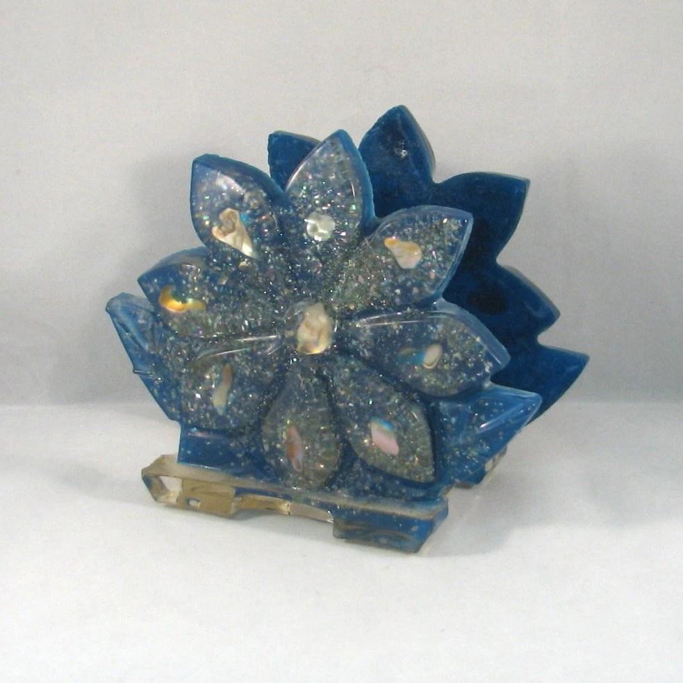 Antique Napkin Holders Flower Shape Base