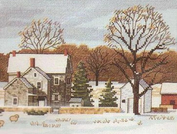 Scenic Farm Counted Cross Stitch Kit By Dimensions Designed By