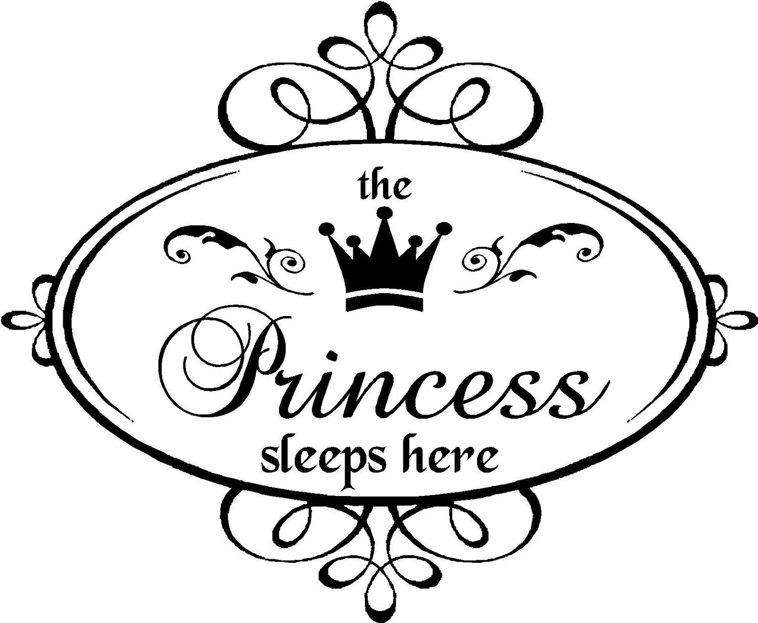 Items similar to Vinyl Quote-The princess Sleeps Here