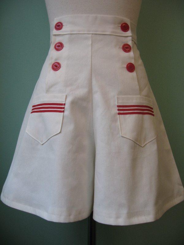 1930' 1940' Vintage Sailor Style Shorts