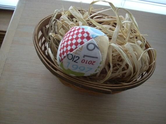Reunion fabric egg - FREE SHIPPING