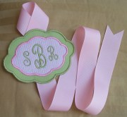 monogrammed hair bow holder perfect