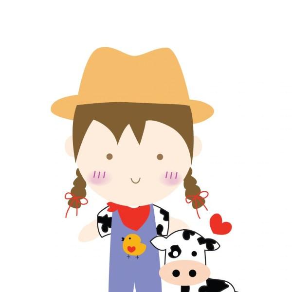 Farm Girl Digital Clip Art