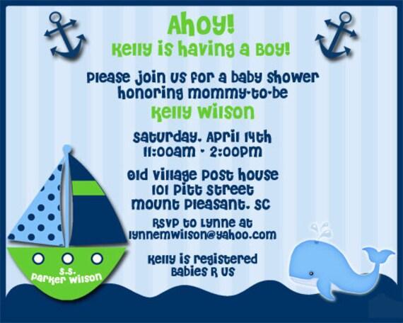 Baby Shower Invitations Its Boy