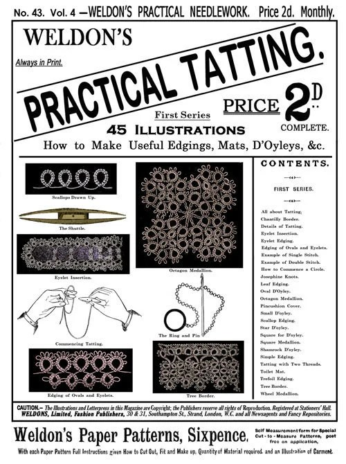 Weldon's 4D 73 c.1933 Beautiful Patterns for Tatted and