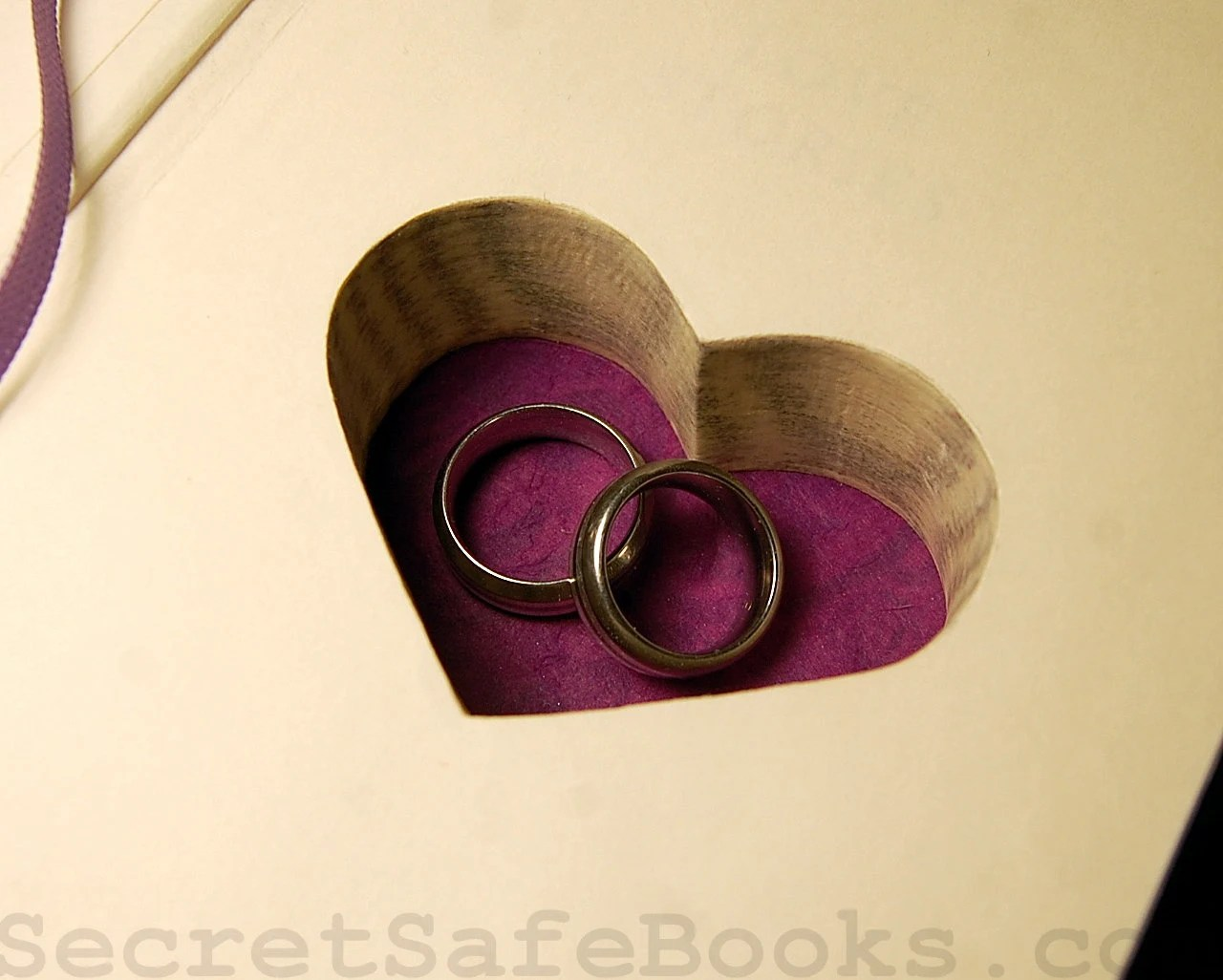 Hollow Book Safe with Heart (LOVE STORIES)