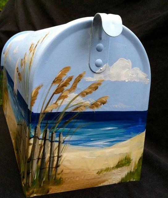custom lauren painted mailbox
