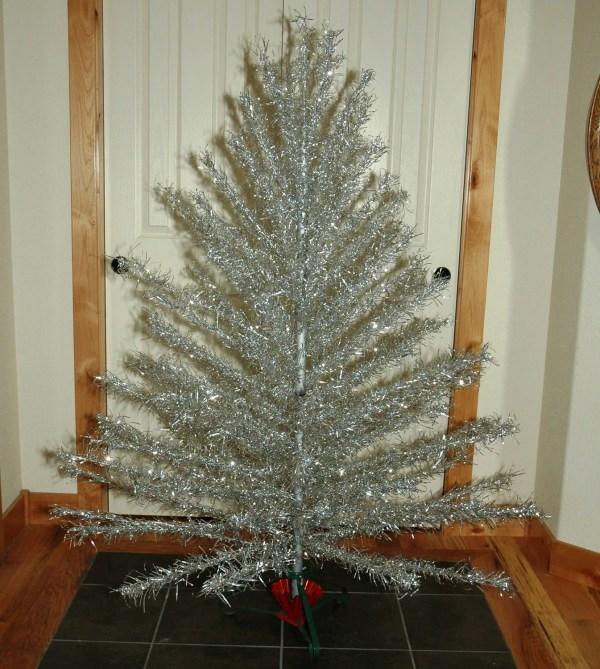 Aluminum Christmas Tree With Vintage Metal