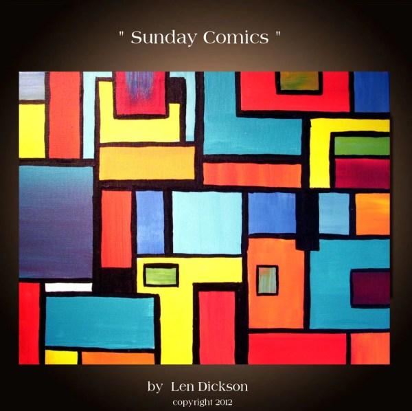 Original Abstract Geometric Painting 16 X 20.sunday